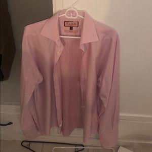Thomas pink, pink French cuff dress shirt. 15 1/2